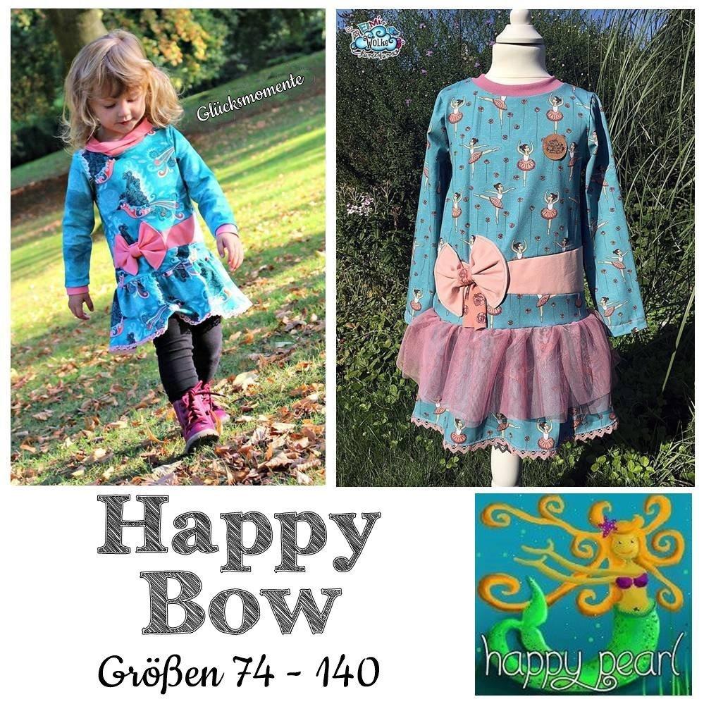 Happy Bow Größen 74 - 140 Tunika + Kleid