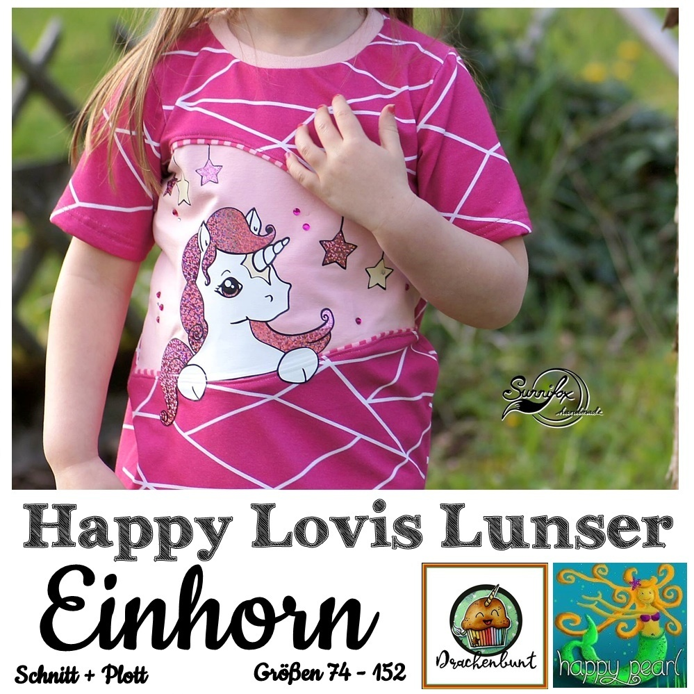 Happy Lovis Lunser Einhorn Gr. 74-152 Shirt