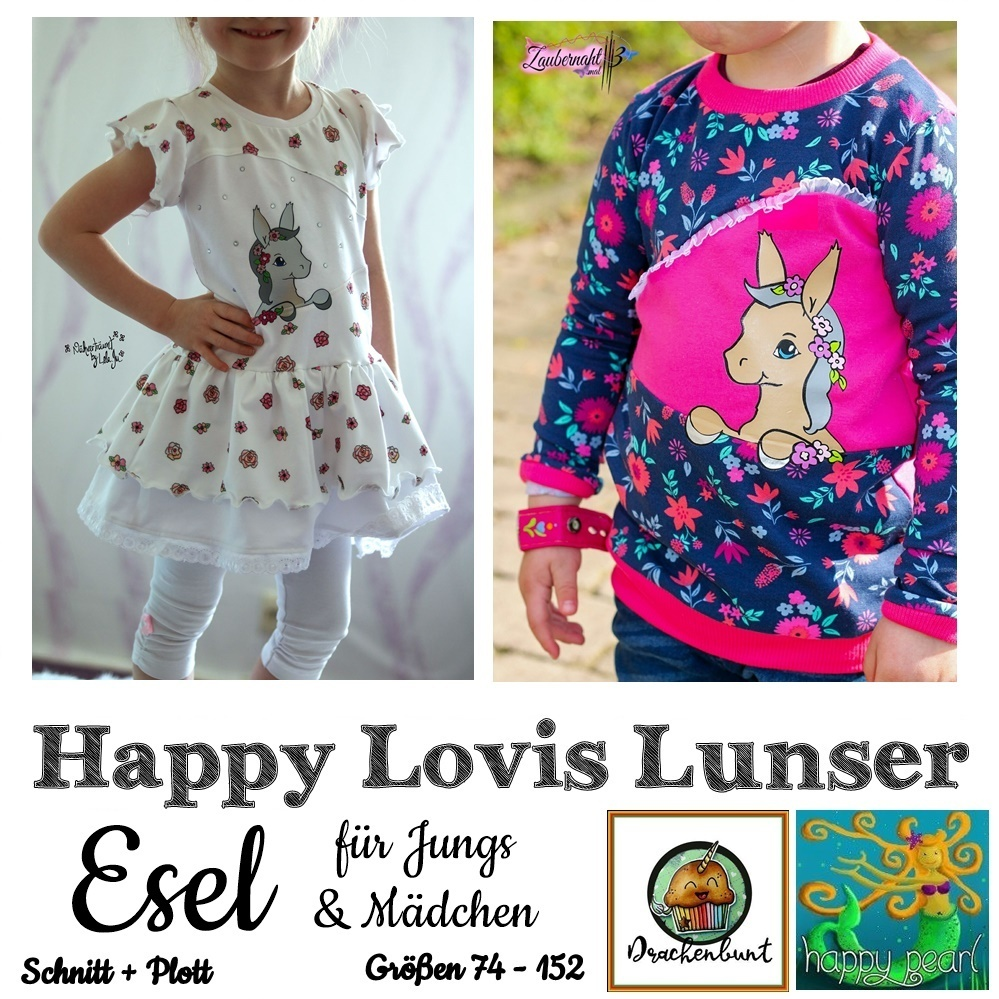 Happy Lovis Lunser Esel Gr. 74-152 Shirt