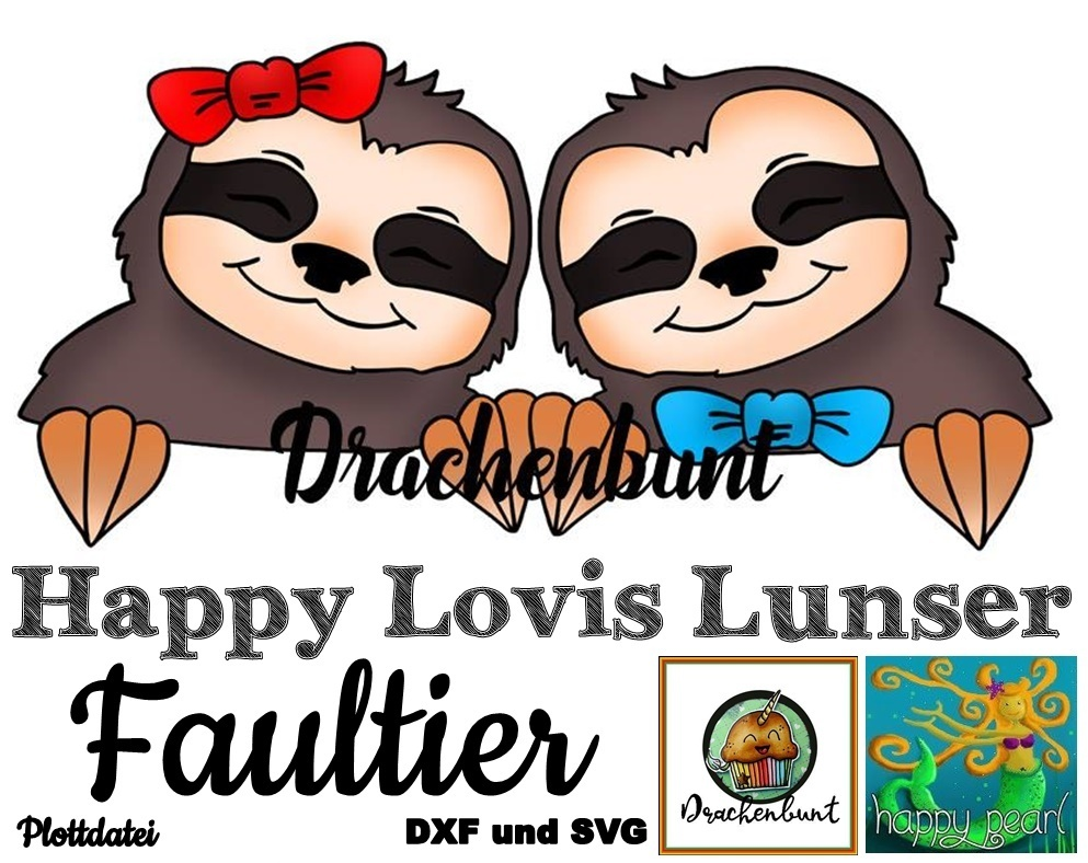 Happy Lovis Lunser Faultier Plottdatei