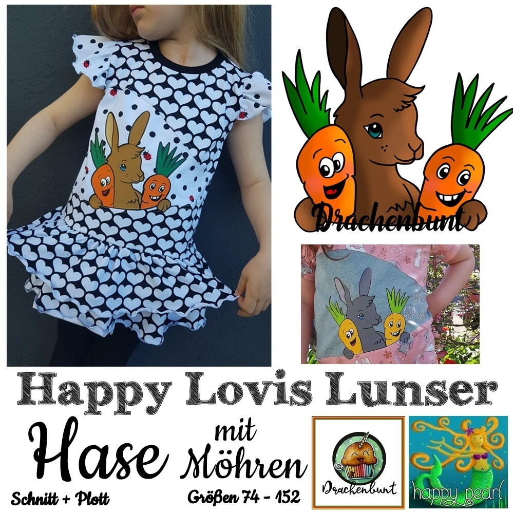 Happy Lovis Lunser Hase Gr. 74-152 Shirt